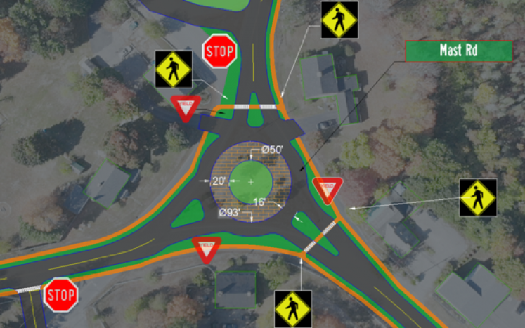 Proposed Lee Center Intersection